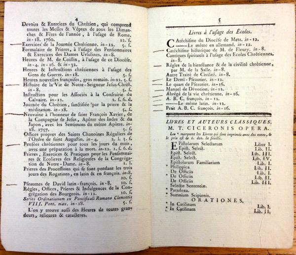Catalogue du libraire Collignon (XVIIIe siècle)