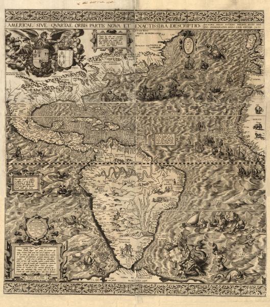 <em>Americae sive qvartae orbis partis nova et exactissima descriptio</em> (1562)
