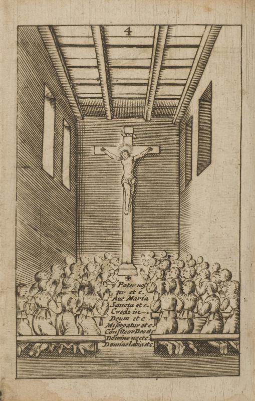 <em>Un groupe d'écoliers en prière (1633)</em>