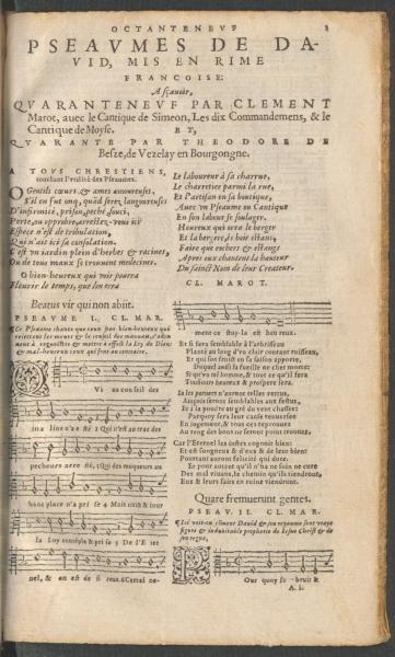 <em>Octanteneuf Pseaumes de David</em> (1556)