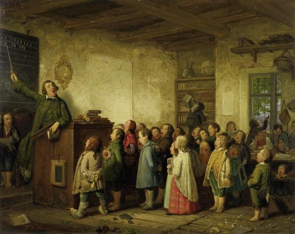 Jobs als Schulmeister (1845)