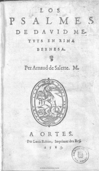 Los psalmes de David (1583)
