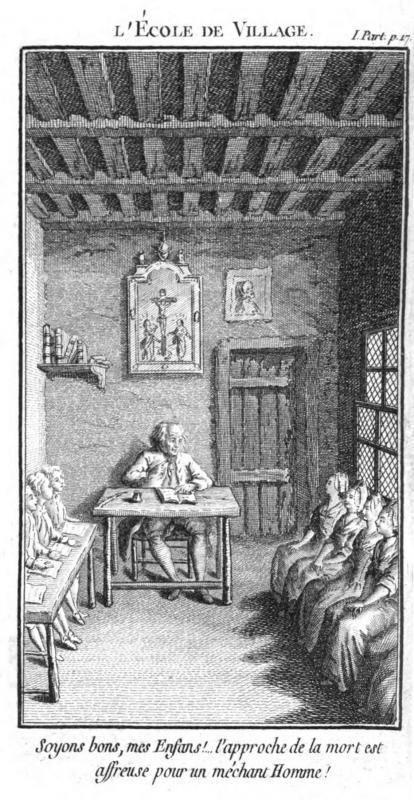 <em>L'École de Village (N.-E. Rétif de La Bretonne, 1779)</em>