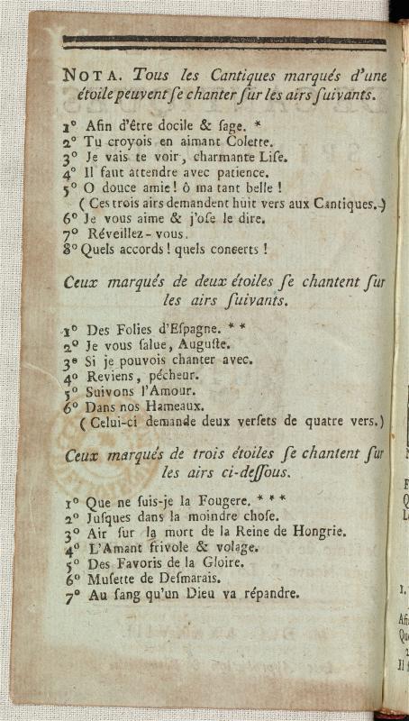 <em>Recueil de cantiques spirituels, choisis spécialement pour l'usage des écoles chrétiennes (1788)</em>