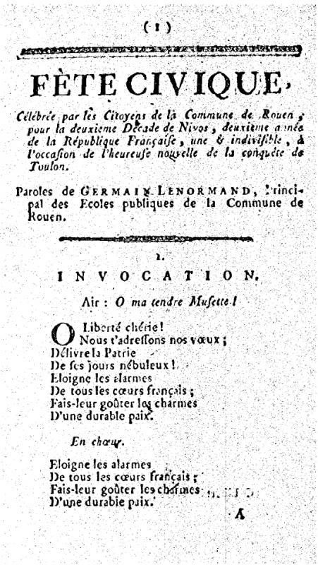<em>Chants d'allégresse, hymnes et couplets patriotiques (Levasseur, an II)</em>