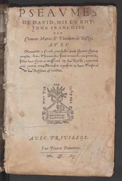 <em>Pseaumes de David</em> (1560)