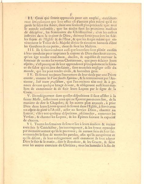 <em>Reglemens pour la conduite des Clercs Séculiers, Maîtres d'Ecole du Diocèse de Noyon (1746)</em>